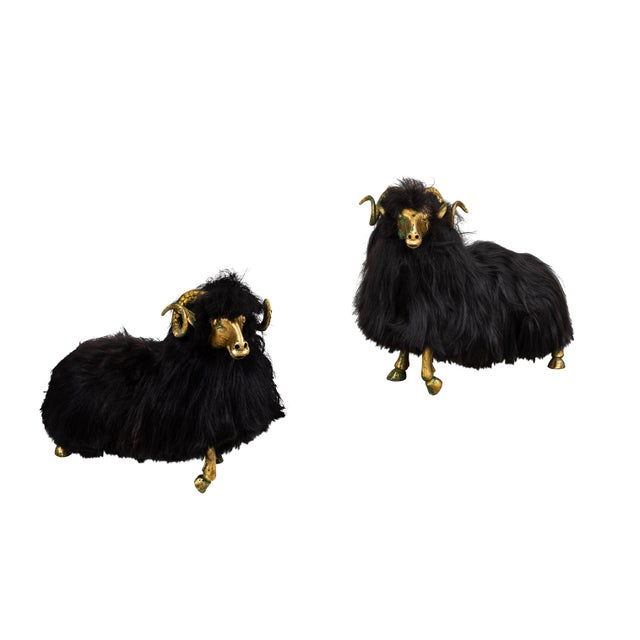 Bronze and Fur Sheep Sculptures - Individual For Sale - Image 11 of 11