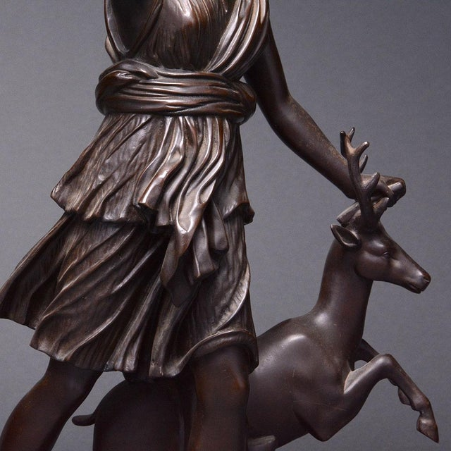 Bronze Sculpture of the Versaille Diana For Sale In Los Angeles - Image 6 of 7