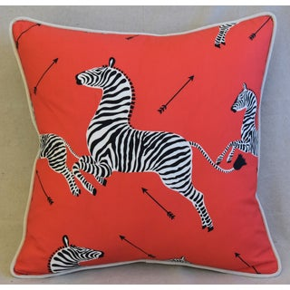 "Scalamandre Iconic Zebra & Velvet Feather/Down Pillow 20"" Square Preview"