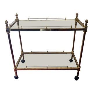 Vintage Italian Brass Bar Tea Cart