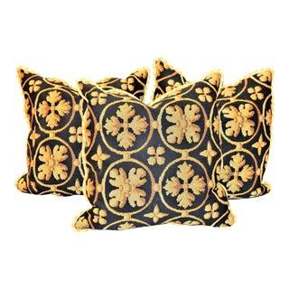 Brunschwig & Fils Custom Designer Down Filled Pillows - Set of 3 For Sale