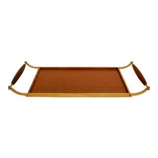 Exotic Hardwood & Brass Handled Tray