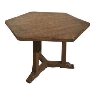 Rustic Oak Center Table For Sale