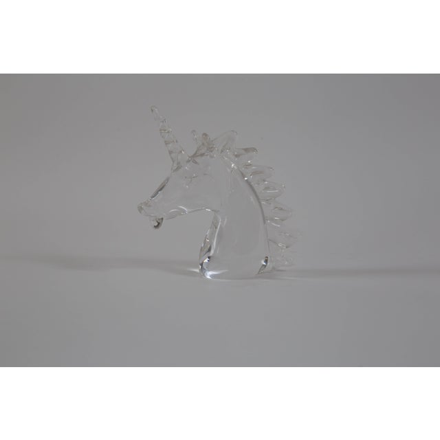 Boho Chic Marcolin Art Crystal Unicorn Sculpture For Sale - Image 3 of 7