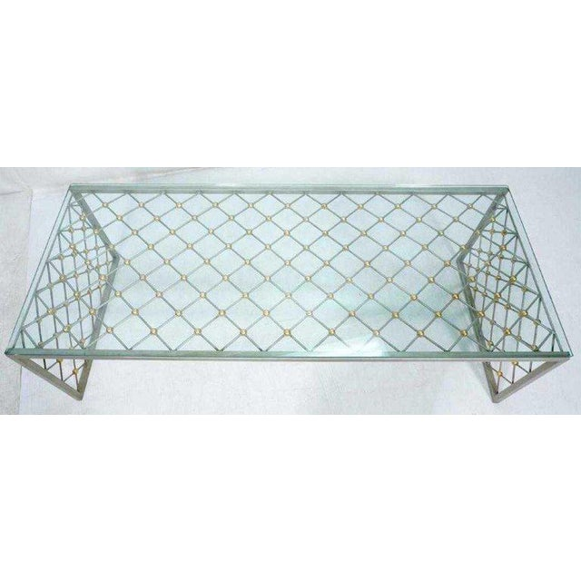 """Modern """"Tour Eiffel"""" Coffee Table After Jean Royere For Sale - Image 3 of 9"""