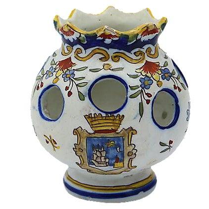 Antique French Faience Potpourri Pot - Image 1 of 5