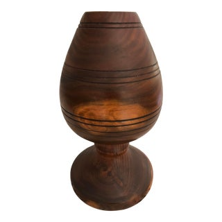 Hand-Turned Wood Vessel Goblet Chalice For Sale