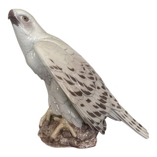 1950s Bing & Grondahl Danish Porcelain Eagle Statue For Sale