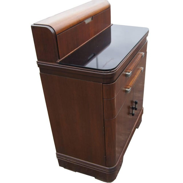 Art Deco Art Deco Hamilton Donald Deskey Walnut Dental Cabinet For Sale - Image 3 of 9