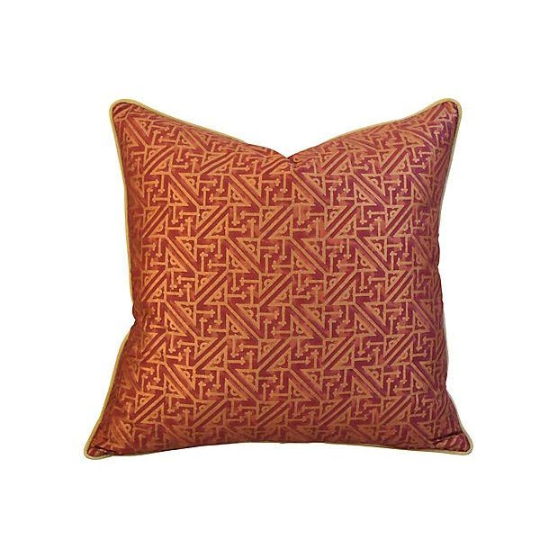 Custom Italian Mariano Fortuny Simboli Feather/Down Pillows - Pair - Image 9 of 10