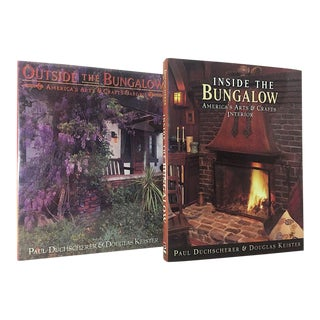 """1990s Vintage Illustrated Folio Books, """"Inside the Bungalow"""" & """"Outside the Bungalow"""" - 2 Pieces For Sale"""