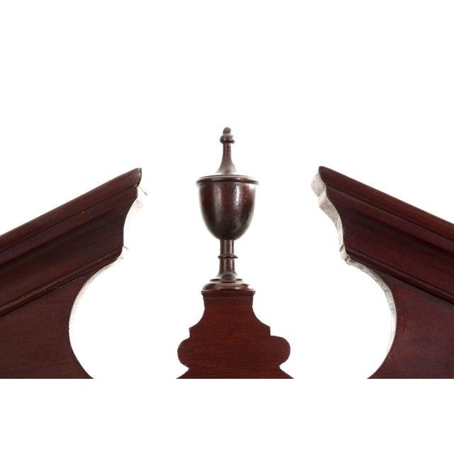 19th Century English Georgian Mahogany Hanging Corner Cabinet Cupboard For Sale - Image 5 of 11