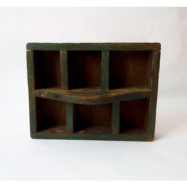 Rustic Forest Green Berry Carrier For Sale In Dallas - Image 6 of 8