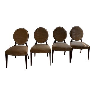 Modern Donghia Olivier Dining Room Chairs- Set of 4 For Sale