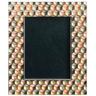 Shagreen Nickel-Plated Photo Frame by Fabio Ltd For Sale