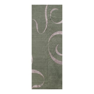 Pasargad NY Nepal Modern Silk & Wool Hand-Knotted Rug - 5′5″ × 14′6″