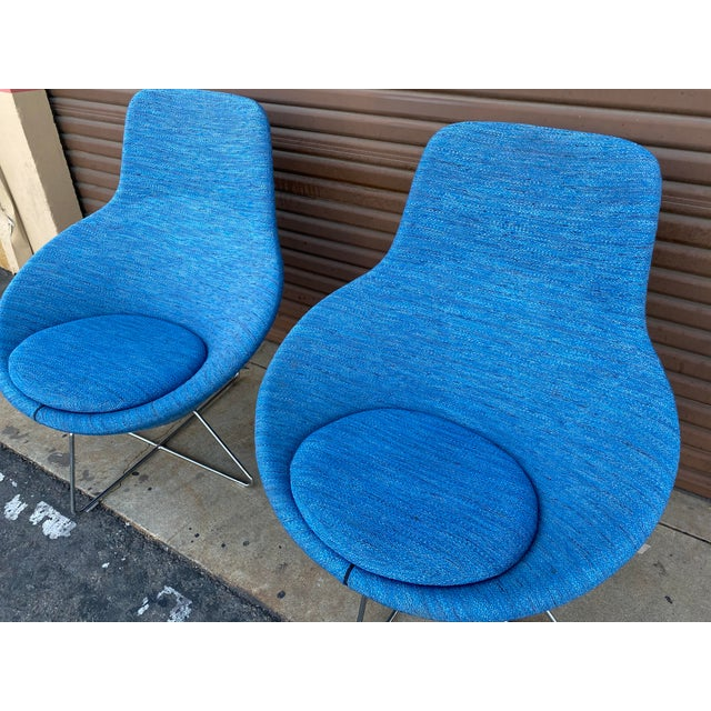 Allermuir Conic Modern Lounge Chairs - a Pair For Sale In Los Angeles - Image 6 of 7
