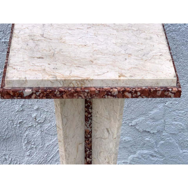 Stone French Art Deco/Modern Marble Pedestal For Sale - Image 7 of 8