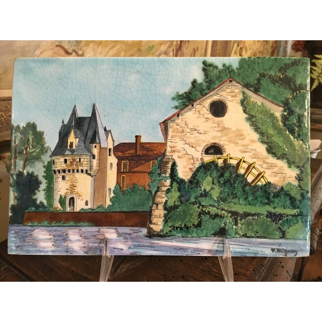 Longwy French Hand Painted & Signed Tile For Sale - Image 13 of 13