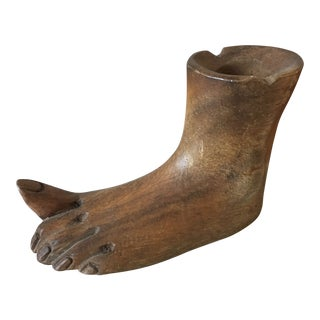 Wooden Foot Sculpture