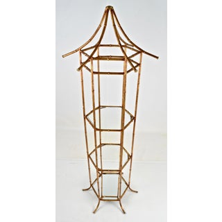 Pagoda Form Etagere, Parcel Gilded Preview