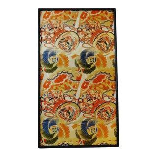 Antique Old Japanese Framed Panel of Embroidered Silk For Sale