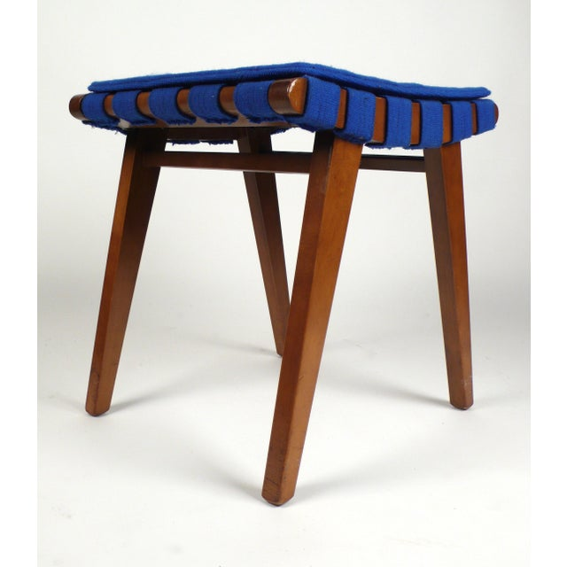 H. G. Knoll and Associates Jens Risom Stool or Ottoman For Sale - Image 4 of 5