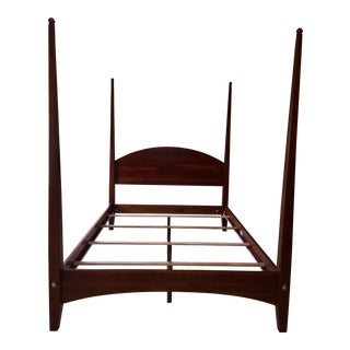 Ethan Allen Cherry American Impressions Four Poster Bed With Canopy For Sale