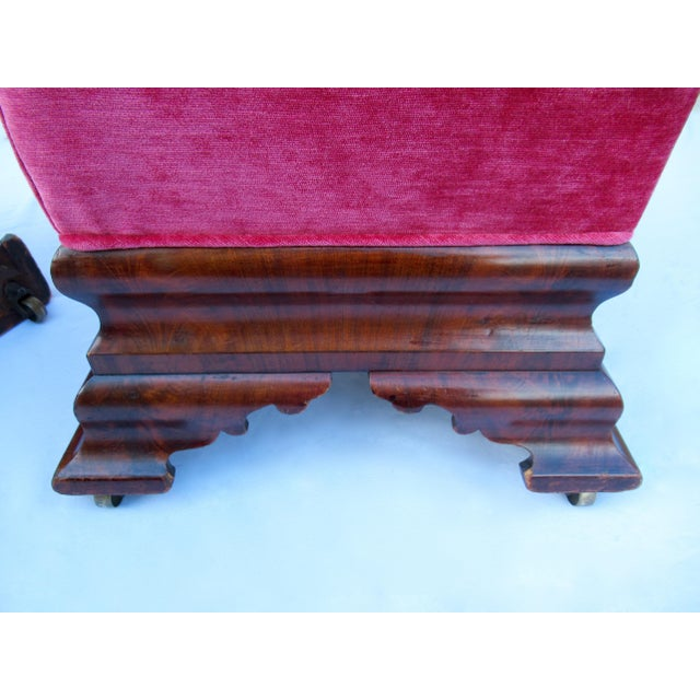 C.1840s-90s, Vintage Joseph Meeks & Sons Mahogany Ottomans - a Pair For Sale - Image 10 of 13