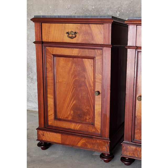 19th Century French Crotch & Burl Mahogany Confiture Cabin For Sale - Image 11 of 12