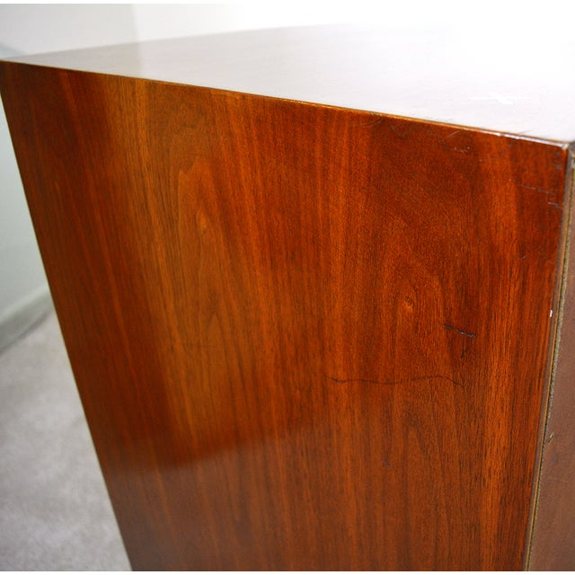 1960s Mid-Century Modern American of Martinsville Walnut and Aluminum Credenza For Sale - Image 12 of 13