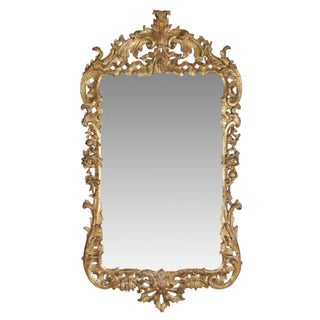 George II Giltwood Mirror, Circa 1750 For Sale
