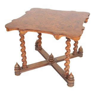 Baroque Style Games Table With an Inlaid Top For Sale