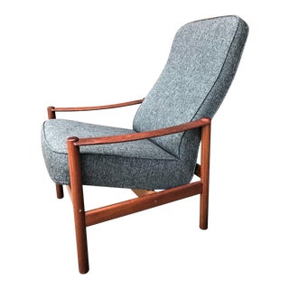 Vintage Mid-Century Swedish Folke Ohlsson for Dux Style Rosewood Recliner Lounge Chair For Sale