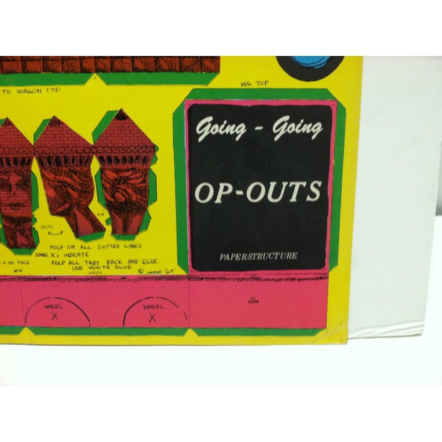 """Paper 1967 Vintage """"Op-Outs"""" """"Going-Going"""" Poster by w.g. Top For Sale - Image 7 of 8"""