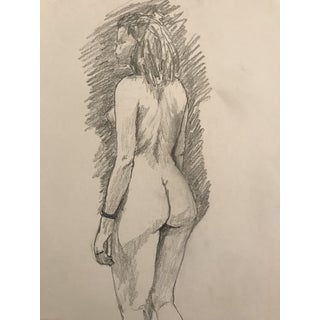 1960s Large Studio Drawing of Female Nude For Sale