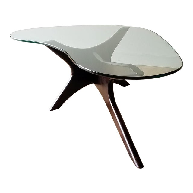 1960s Adrian Pearsall Model 1465-T Boomerang Walnut Coffee Table, Unmarked For Sale