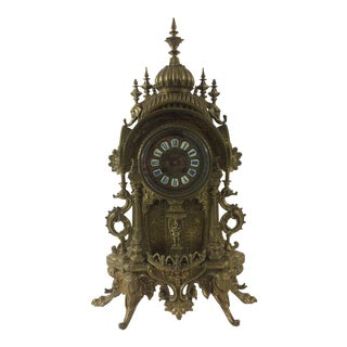 Indian Raj Mantel Clock with Hindu God Ganesha For Sale