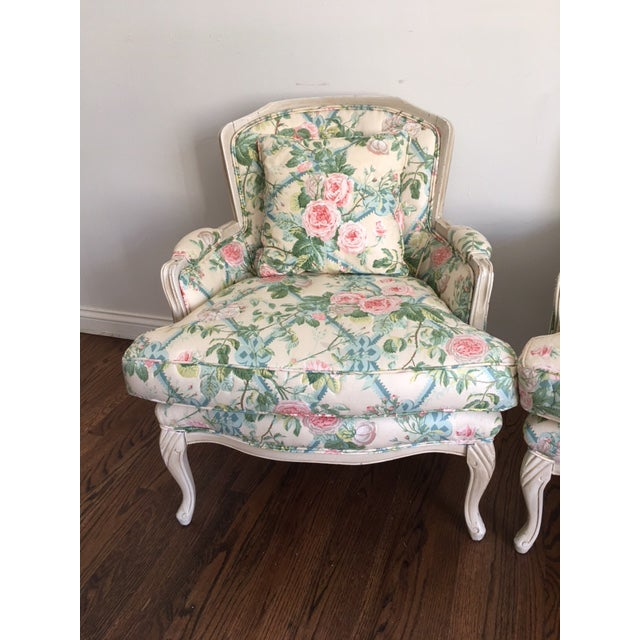 Shabby Chic Floral Bergere Chairs - A Pair - Image 4 of 11