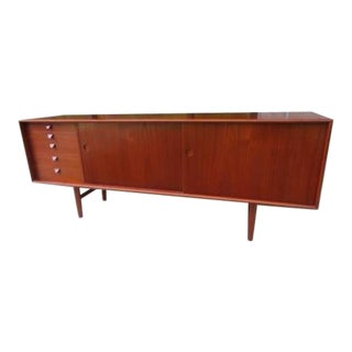 1960s Mid-Century Modern Kurt Ostervig Teak Sideboard Credenza For Sale