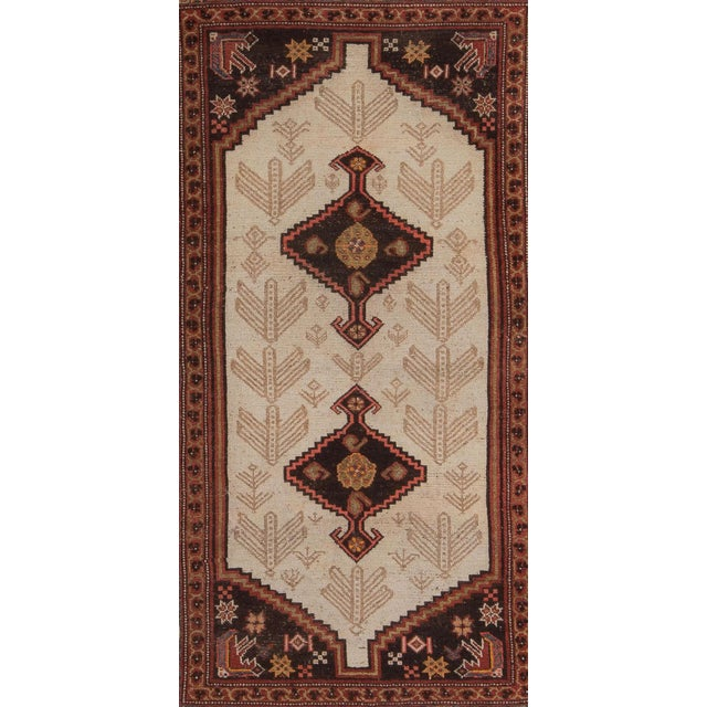 Early 20th Century Antique Malayer Village Rug - 3′6″ × 5′11″ For Sale In New York - Image 6 of 8