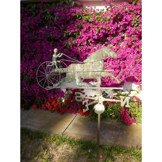 Vintage Horse and Buggy Coper Weathervane For Sale - Image 12 of 13
