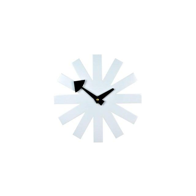 Mid-Century Modernist White Asterisk Clock For Sale