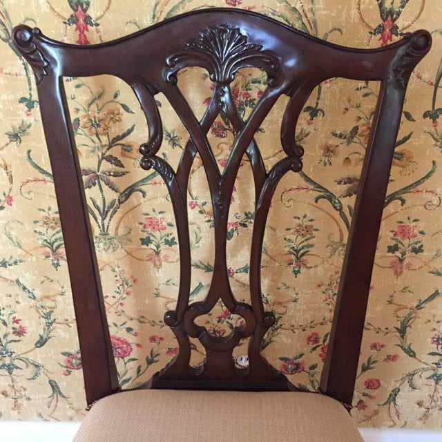 Maitland Smith Regency Chippendale Carved Dining Set For Sale In New York - Image 6 of 8