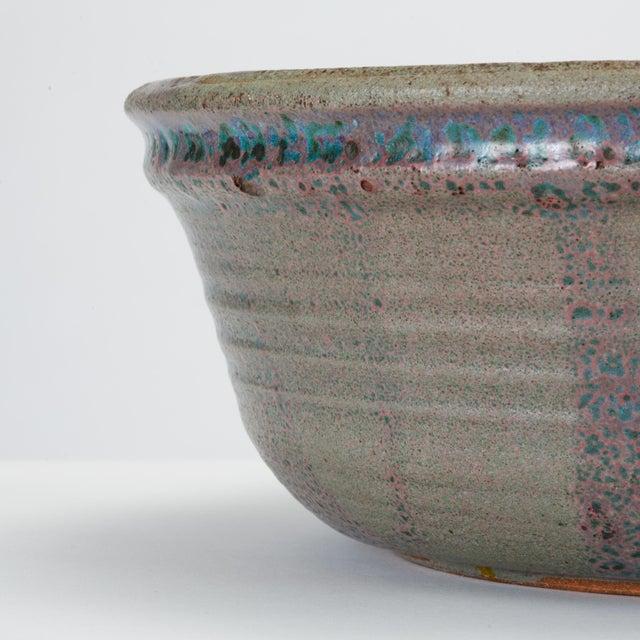 Blue Studio Pottery Serving Bowl For Sale - Image 9 of 12
