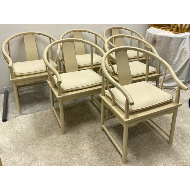 1970s Ming Style Dining Chairs by Baker Furniture - Set of 6 For Sale - Image 5 of 7