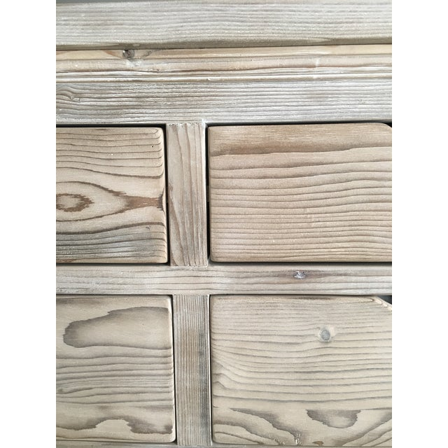 Custom White Washed Pine 10-Drawer Dresser - Image 11 of 11