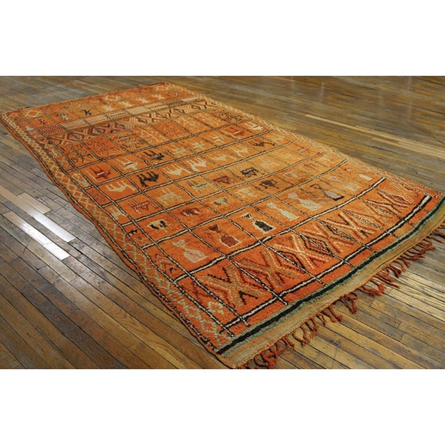 Moroccan 1930s Antique Moroccan Rug For Sale - Image 3 of 6