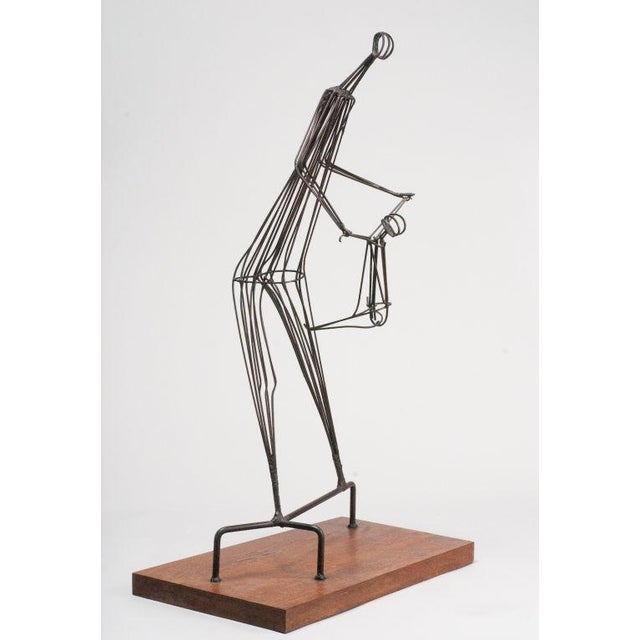 Kinetic Wrought Iron Sculpture by Robert Kuntz - Image 2 of 5