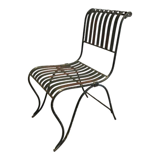 French Wrought Iron Garden Chair - Image 1 of 11